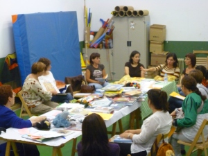 Taller en Arrúbal. Octubre de 2009