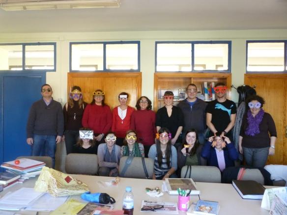 Miércoles 29 de febrero de 2012 Maestros del CRA Entrevalles (Badarán, La Rioja, España)