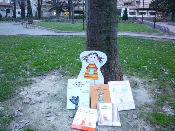 Parque del Carmen en Logroño. Jueves 10 enero 17.45 horas