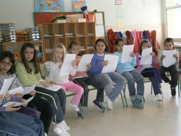 Alumnos de 1º, 2º y 3º de Primaria del Colegio de Ribafrecha