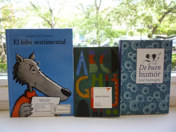Estos son los tres libros que tenemos programados para nuestra sesión del club de lectura