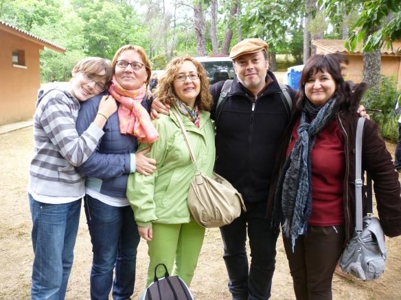 Tres Tomasas (Ramos Corral, Mari Paz García y Carmen Sáez) con Raúl Vacas