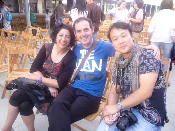 Eugenia Manzanera, Pablo Albo y Joshi Hioki estaban así de contentos por Autol.
