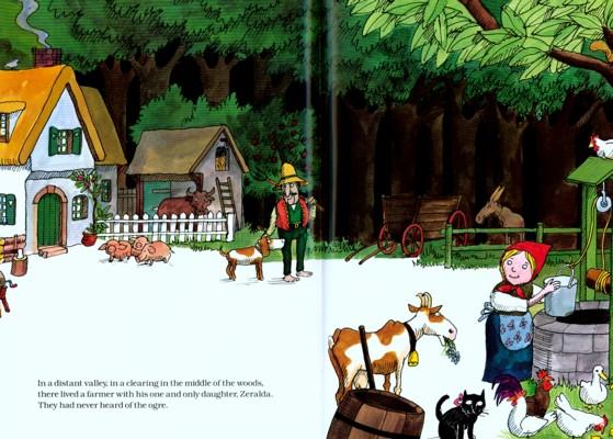 Ilustración de Tomi Ungerer para El gigante de Zeralda