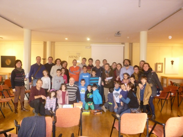 Antes de despedirnos una foto del grupo más jugón del Ateneo. 18-01-2014