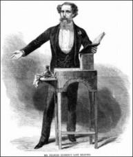 Grabado de Dickens durante una lectura, efectuado a mediados del siglo XIX. Thinkstock