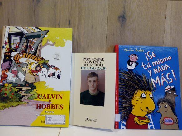 Los tres libros de los que hablaremos el sábado en el Ateneo.