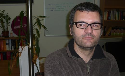 El editor Moisés Barcia.