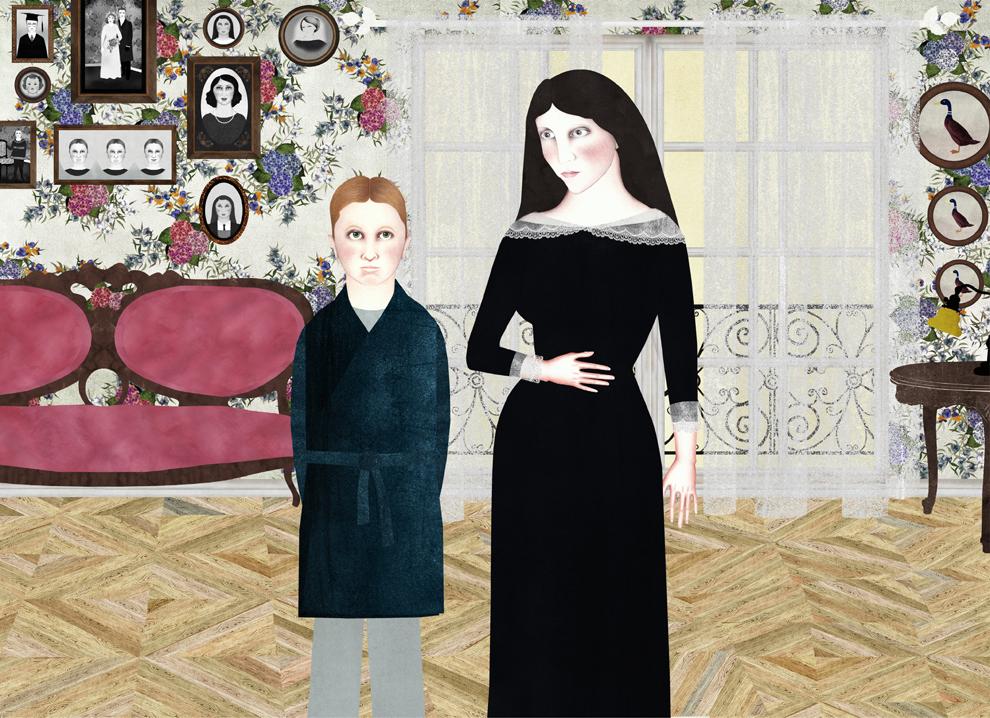 Ilustración de Sara Morante para La vida de las paredes (Lumen, 2015)