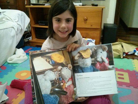 Laura Ochagavía entusiasmada con La casa de los ratones.