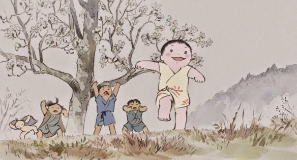 """Fotograma de la película """"El cuento de la princesa Kaguya"""""""
