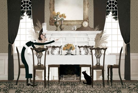 La cata (Los gastrónomos) de Roald Dahl e ilustrado por Iban Barrenetxea. Nórdica, 2016