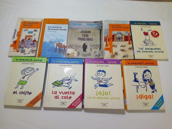 Cada uno de los libros contiene diferentes relatos, ideales para leer uno cada noche en casa o uno cada día en clase, o todos los viernes, etc.